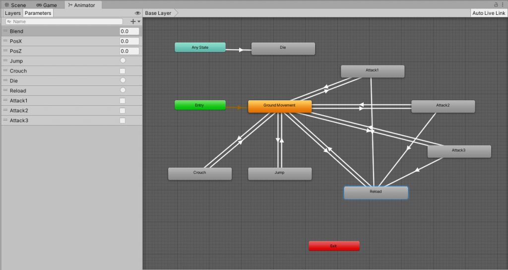 Player Controls With Finite State Machine Using C# in Unity - Animator